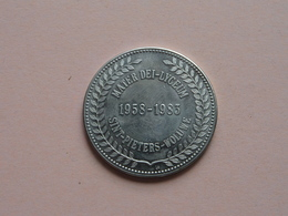 SINT-PIETERS-WOLUWE - 1958-1983 Mater Dei-Lyceum ( 25 Jaar ) Zilverkleurig / Groot ! - Gemeentepenningen