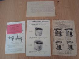 DOCUMENTS PUBLICITAIRES SANITAIRES P.A. FARTHOUAT PARIS - Publicités