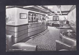 Bateau Paquebot S.S. Drottningholm Bar Swedish American Line Gothenburg Sweden - Paquebots