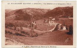 CPA - 63 - SINGLES - Vue Générale De La Guinguette Et Roche De La Dent Panorama Sur Perret..   - Impression Brune - - France