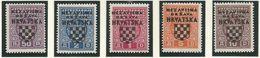 HR 1941-P1-5 PORTO, CROATIA HRVATSKA, 1 X 5v, MH - Kroatien