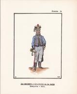 5 MAGNIFIQUES PLANCHES UNIFORMOLOGIQUE ECLAIREURS DE LA GARDE / COLOREES A LA MAIN / TRES BEAU PAPIER  / RARE ++ - Uniforms