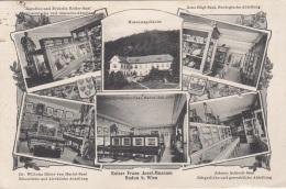 BADEN B.Wien (NÖ) - Mehrbilderkarte Gel.1914, Gebrauchsspuren - Baden Bei Wien