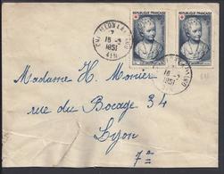 FR - 1951 - N° 876 Croix Rouge X 2 Sur Enveloppe De Chatillon La Palud Pour Lyon - B/TB - - 1921-1960: Periodo Moderno