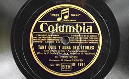 78 Trs - Columbia CL 5857/5858 - M. TINO ROSSI - Tant Qu'il Y Aura Des Etoiles Et Chanson Pour Ma Brune - Bon Etat - 78 T - Disques Pour Gramophone