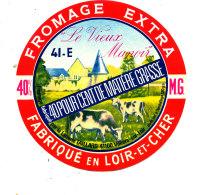 R  877- ETIQUETTE DE FROMAGE-  LE VIEUX MANOIR LAITERIE TAILLARD   FABRIQUE EN  LOIR ET CHER - Cheese