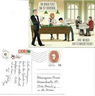 1560r: Wiener Kaffeehaus, Werbekarte Frankiert Mit Kaiser Franz Joseph 1160 Wien, 11.5.2018 - Hotels & Gaststätten