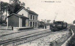 84Vn   59 Wormhoudt La Gare Train à Vapeur - Wormhout