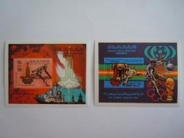 Libië Libye Libya 1979 Jeux Olympiques Moscou Olympische Spelen  2 Bloc Feuilles  Yv 33 & 34 MNH ** V - Zomer 1980: Moskou