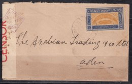 Yemen To Aden Censor Cover Used 1942, - Yemen