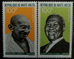 O) 1968 BURKINA FASO -VOLTA, ALBERT JOHN LUTHULI-MAHATMA GANDHI-EXPONENTS OF NON VIOLENCE-SC AP28  100fr, - Burkina Faso (1984-...)