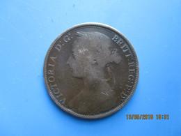 Grande Bretagne, One Penny Victoria, 1889, B - 1816-1901 : Coniature XIX° S.