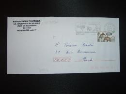 LETTRE TP YT 3336 ABBATIALE D'OTTMARSHEIM 3,00 OBL.MEC. VARIETE 29-7 2000 44 BOUAYE - Marcophilie (Lettres)