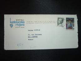LETTRE TP 1,25 + TP 0,75 OBL.19 V 69 KASTEL STARI + HOTEL KASTELANSKA RIVIJERA - 1945-1992 République Fédérative Populaire De Yougoslavie