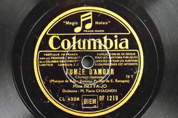 78 Trs - Columbia CL 4328/3429 - Chanson Japonaise Mme NITTA-JO - Fumée D'Amour Et Si Tu Me Veux - Bon Etat - 78 Rpm - Gramophone Records