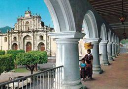 1 AK Guatemala * Palace Of The Capitan Generals And Cathedral In Antigua Guatemala - Krüger Karte * - Guatemala