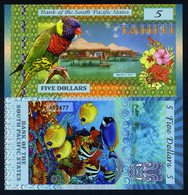 South Pacific States, $5, Tahiti (French Polynesia) 2015, Polymer, UNC - Billets