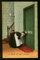 Bamforth Used - Chambermaid Listening At Hotel Room Door - Some Wear - Comics