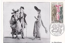 Carte-Maximum FRANCE N° Yvert 1729 (INCROYABLES Et MERVEILLEUSES) Obl Sp Ill 1er Jour (Ed Steff) - 1970-79