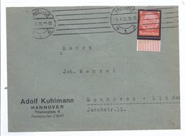 Privatpost Frankatur Hindenburg Trauermarke - Aus 1935 - Gelaufen In Hannover -   (89905) - Allemagne
