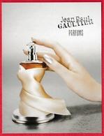 GRANDE CARTE JEAN-PAUL GAULTIER - VERSO BLANC - Perfume Cards