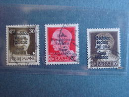 "Italie 3 TP (N° 226-228 & 230) Surcharges ""Republica Sociale Italiana /Base Atlantica "" & ""Republica Fascista.."" - 4. 1944-45 República Social"