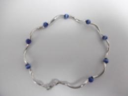 Bracelet En Argent Et Perles De Verre - Bracelets