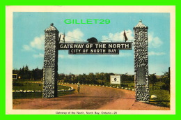 NORTH BAY, ONTARIO - GATEWAY OF THE NORTH CITY OF NORTH BAY - CASTOR - ANIMÉE FEMME BICYCLETTE - PECO - - North Bay