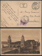 CPA De Cologne Vers Bruxelles Du 15/1/1920 Taxée Avec Nr TX20 - Nr 140 Timbre à L'effigie D'albert 1er - 1915-1920 Alberto I