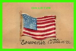 OTTAWA, ONTARIO - SOUVENIR OTTAWA - AMERICAN FLAG -ILLUSTRATED POST CARD CO - TRAVEL IN 1907 - - Ottawa