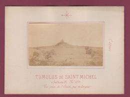 140518 - PHOTO ANCIENNE - 56 CARNAC - PREHISTOIRE -  Tumulus De Saint Michel , Vue Prise De L'Ouest - Carnac