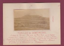 140518 - PHOTO ANCIENNE - 56 CARNAC - PREHISTOIRE -  Tumulus De Saint Michel , Vue Prise Du Nord Ouest - Carnac