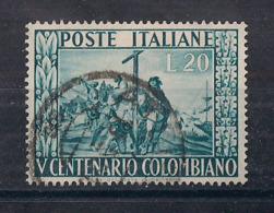 ITALIA  1951 CRISTOFORO COLOMBO SASS. 660 USATO VF - 1946-.. République