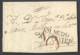 Marca En Negro *Olmedo. Castilla La Vieja* Fechada 1828. - España