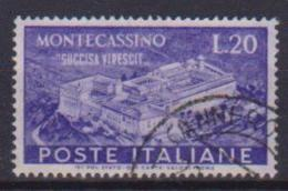 ITALIA 1951  MONTECASSINO SASS. 664 USATO VF - 6. 1946-.. Repubblica