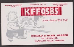 CB QSL Card - Ronald & Hazel Harper Klamath Falls, Oregon - CB