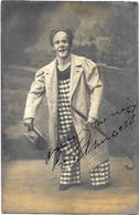 CPA Cirque Circus Cirk Clown Carte Photo Dédicace Autographe Non Circulé - Cirque