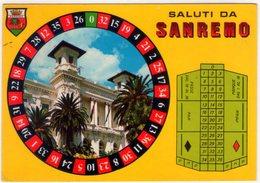 Saluti Da Sanremo Con Roulette. VG. - Cartoline