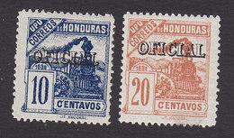 Honduras, Scott #O24-O25, Mint Hinged, Train Overprinted, Issued 1898 - Honduras