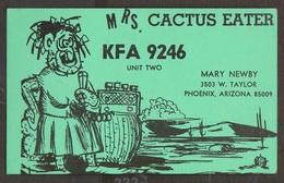 CB QSL Card - Mrs Cactus Eater - Mary Newby Phoenix, Arizona - CB
