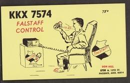 CB QSL Card - Falstaff Control - Ron Hill Phoenix, Arizona - CB