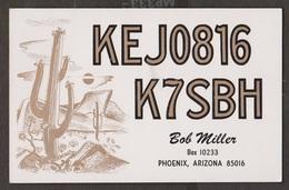 CB QSL Card - Cactus - Bob Miller Phoenix, Arizona - CB