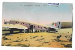 MARIGNANE (13) Aviation Arrivée D'un Avion Italien Affranchissement - Marignane