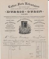 Reims - Dubois-Oudin - Coffres-forts Réfrartaires - - 1800 – 1899
