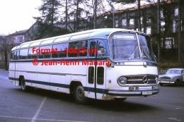 Reproduction D'une Photographie D'un Ancien Bus Mercedes Le Cheylard à Lamastre En 1973 - Reproductions
