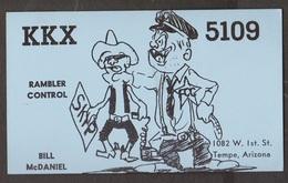 CB QSL Card - Policeman - Bill McDaniel Tempe, Arizona - CB