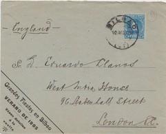BILBAO - SOBRE PUBLICITARIO DE FIESTAS - 1889-1931 Königreich: Alphonse XIII.