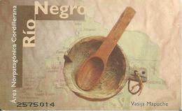 CARTE-PUCE-ARGENTINE--20 PULSOS-GEM-ECUELLE BOIS-100000 Ex-TBE - Argentine