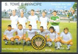 F45- Sao Tome E Principe, 1990, Soccer World Cup Italy, Football, - Soccer