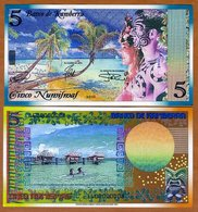 Kamberra, Kingdom, 5 Numismas, 2016, UNC Polynesian Exotism - Billets